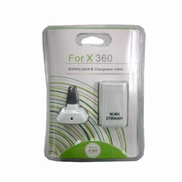 Xbox 360 Play & Charge Kabel Incl. Accu