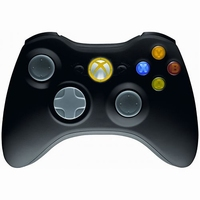 Wireless Xbox 360 Controller Zwart