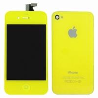 iPhone 4 Behuizing Incl. LCD Geel (voor en achterkant)
