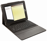 iPad 1, 2 en 3 Lederen hoes incl. Bluetooth Keyboard
